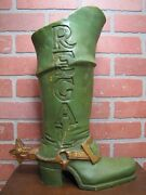 Regal Boots Western Wear Shoe Store Display Old Advertising Trade Sign