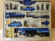Fast Lane Police Set Die Cast Cars Vehicles Figurines With Carrying Case