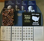 Lot Of Eight 50 State Quarter Books-1999-2008 State Quarters And 1976 Bicentennial