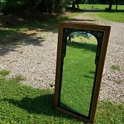 Rare Ethan Allen Heirloom Maple Birch Tall Decorated Hand Painted Mirror 14-9219