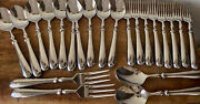 Pottery Barn Stainless Savant 8 Forks, 10 Spoons, 2 Serving Sets 22 Total
