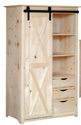 New Amish Unfinished Solid Pine | Pantry | Sliding Door | Modern Farmhouse