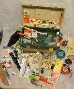 Lot Of Vintage Fishing Lures And Tackle Plano 787 Tackle Box