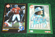 John Elway 1992 Collectors Edge Autographed Nfl Card And Unsigned 2-cards