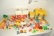 Vintage Fisher Price Little People Lot 80+ Pieces House, Farm, Sesame Street