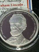 1 Oz .999 Pure Silver Shield Proof Abraham Lincoln Potus Presidents Round Coin