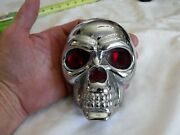 Vintage Cool Lighted Skull Made For Motorcycle Mount Taillight