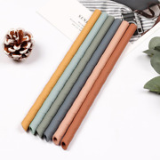 6pcs Reusable Silicone Straws Food Grade Flexible Bent Straight 2 Cleaner Brush