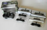 Gate Willy's Jeep Toy Army Car In Box 132 Scale And 3 Southern Pacific Tank Cars