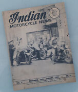 1943 Indian Motorcycle News Original Magazine Book Four Chief Scout 45 741