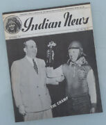 1941 Indian Motorcycle News Original Magazine Book Four Chief Scout 45 741
