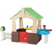 Little Tikes Deluxe Home And Garden Playhouse Indoor Outdoor Toy Toddlers