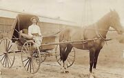 Fl 1908 Real Photo Florida Wagon And Watermelons At Belle Glade, Fla - Palm Beach