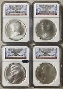 2015 Coin And Chronicles Set, Ngc Ms70 Er, 4 Silver 1oz Presidential Medals