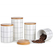 Canisters Sets For Kitchen Counter, Beyonda Kitchen Canisters Set Of 4 Ceramic And