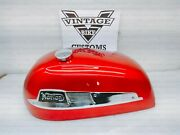 Norton Dominator 88 Atlas 500cc Gas Petrol Fuel Tank Cherry And Badge  fit For