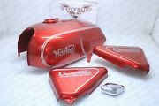 Norton Commando 850 Electric Start Gas Petrol Fuel Tank Cherry And Panels |fit For