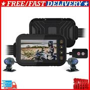 Wifi Motorcycle Dvr System Waterproof 1080p Front + 720p Rear View Dashcam