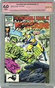 Incredible Hulk And Wolverine 1 Cbcs 6.0 Ss 1986