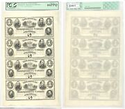1865 1 Bank Of Montgomery County Norristown Pa Uncut Sheet Pcgs Gem 66 Ppq