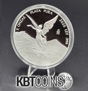 Libertad Mexico 2020 5 Oz Proof Silver Coin In Capsule Mintage Of 2950 - Rare