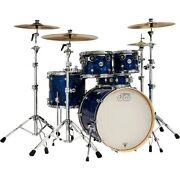 Dw Design Series 5-piece Finish Ply Shell Pack Chrome Hardware Blue Pearl Marine