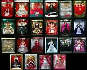 Happy Holidays Barbie Doll Collector 1988 - 2009 Nice Boxes Lot 22 Christmas Set