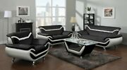 Hs 2pcs Sofa And Loveseat Set Living Room Black And White