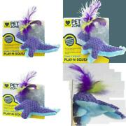 Pet Zone Dino-friends Play-n-squeak Interactive Cat Toy For Indoor Cats Interac