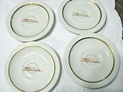 Vintage 4 Union Pacific Winged Streamliner Demi Saucers-scammelland039s Trenton China