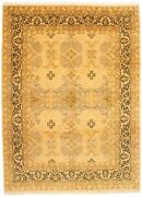 Vintage Geometric Hand-knotted Carpet 9and0391 X 12and0394 Traditional Wool Area Rug
