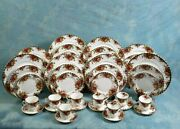 Royal Albert Old Country Roses Dinnerware Set Plate Salad Cups England First Edi