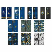 Official Nhl Buffalo Sabres Leather Book Wallet Case For Apple Iphone Phones