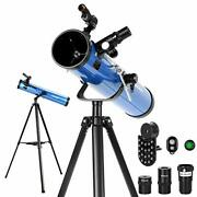 Aomekie Reflector Telescopes For Adults Astronomy Beginners 76mm/700mm With Phon