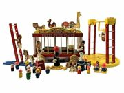 1960's Fisher Price Circus Wagon 30-piece Set With Vintage Little People Number
