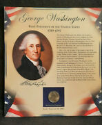 2007 George Washington Bicentennial Presidential Dollar And 1/2 Cent Stamp Mint