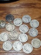 Lot Of Four 4 Junky Walking Half Dollars So Ugly They Are Rare