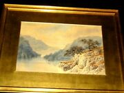 1144 W.f. Boddy Water Color Painting Dated 1887 Title- Loch Limmond 22and039and039 X17