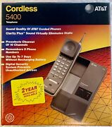 Atandt 5400 10 Channel Cordless Phone Desk/wall Telephone Vintage New Collectible