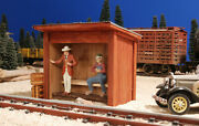 G Scale Train Building For Use W Lgb Accucraft Mth Usa Track, Locomotives And Cars