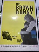 Original Theater Sized The Brown Bunny Poster Framed Super Rare Find 28x40