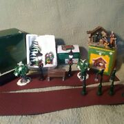 Large Lot Christmas Village Accessories Nativitywise Mentreesstreet Lights