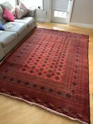 Afghanistan Rose Color Shrebergan Wool Carpet6andrsquo6andrdquox9andrsquo3andrdquo Very Fine Bukhara Pattern