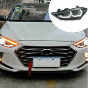 For Hyundai Elantra 17-18 Hid Headlight Assembly Led Drl Sequential Turn Signal