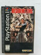 Ps1 Resident Evil Long Box - Original Playstation Game Used
