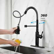 Stainless Steel Faucet Single Lever Handle Water Tap Pull Down Kitchen Accessory