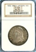 1832 Capped Bust Half Dollar Ngc Au 50 Small Letters Jc0-31