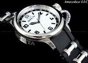 New Womenand039s 43mm Russian Diver Stainless Steel Silver Dial Watch