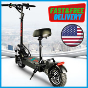 Dual Motor Electric Scooter For Adult Fat Tire And Fast Speed 2400w 60v Foldable