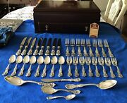 Reed And Barton-francis I-sterling Silver Flatware 8 Place Setting +chest-37pieces